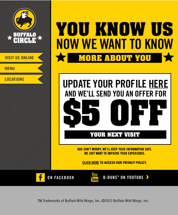 buffalo wild wings printable coupons buffalo wings promo code 20719